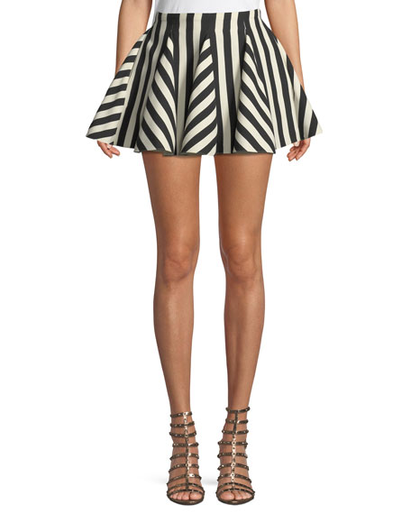 Re-Edition Organza Stripes Short Skirt
