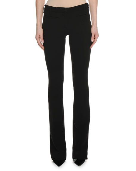TOM FORD Double-Wool Stretch Flare-Leg Pants
