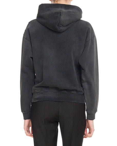 Givenchy Givenchy Paris Destroyed Hooded Sweatshirt