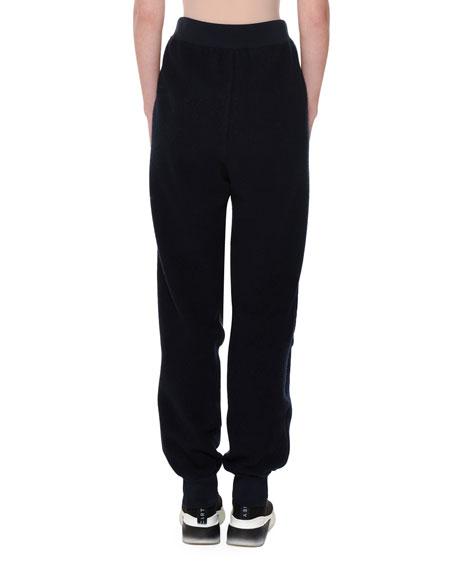 Wool-Back Nylon-Front Jogger Pants