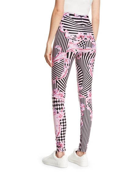 Harlequin-Print Leggings