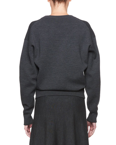 THE ROW Rudi Crewneck Long-Sleeve Pullover Knit Sweatshirt