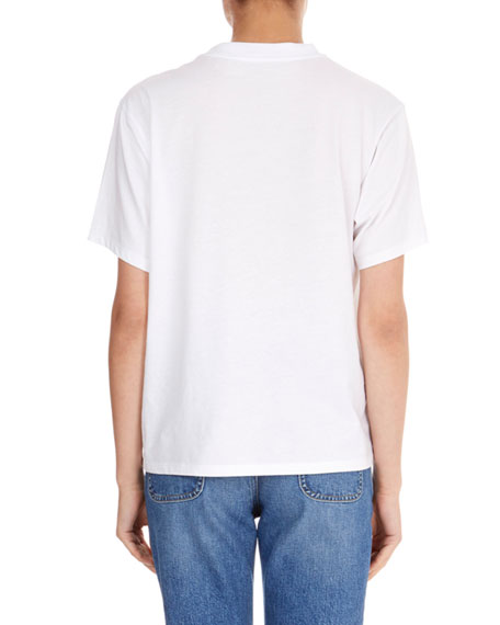 Crewneck Short-Sleeve Classic Cotton T-Shirt