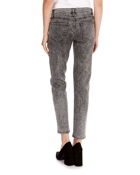 Mid-Rise Skinny Cropped Jeans
