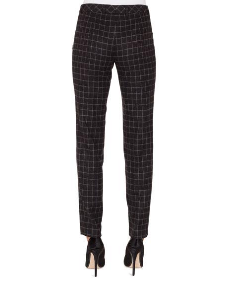 Melvin Slim Marble-Tiles Flannel Wool Pants