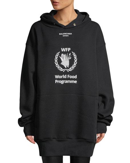 Balenciaga World Food Programme Graphic Hoodie