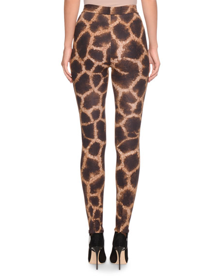 Giraffe-Print Leggings