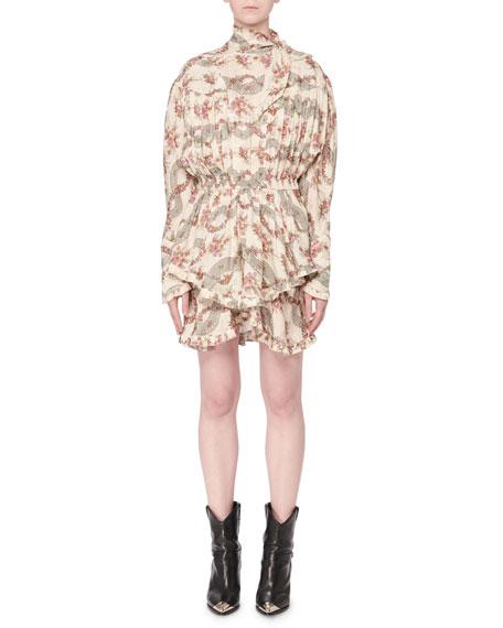 Chiara Boni La Petite Robe Maber Abstract Floral Print Off