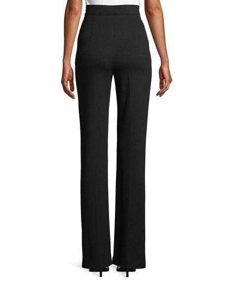 High-Waist Straight-Leg Jersey Sailor Pants
