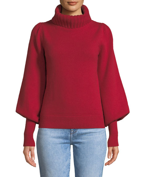 Co Boat-Neck Long-Sleeve Wool-Cashmere Sweater