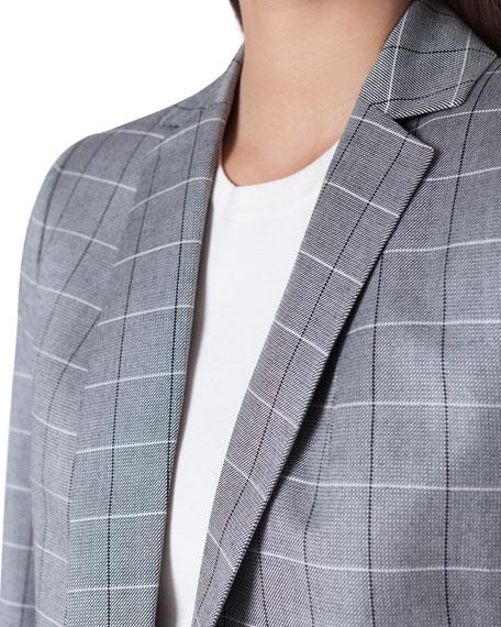 Akris Alan No Close Cool Wool Jacket