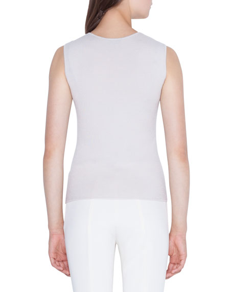 Akris Sleeveless Sequined Cashmere Sweater
