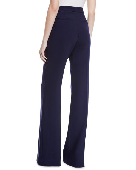 Lela Rose Maggie High-Rise Wool Pants