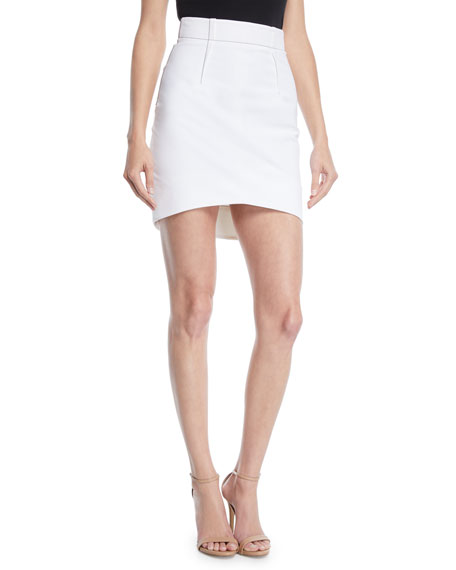 CUSHNIE High-Waist Fitted Light Power Viscose Mini Skirt