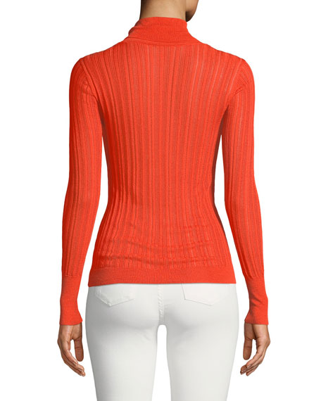 Image 3 of 3: CUSHNIE Turtleneck Viscose-Blend Knit Top
