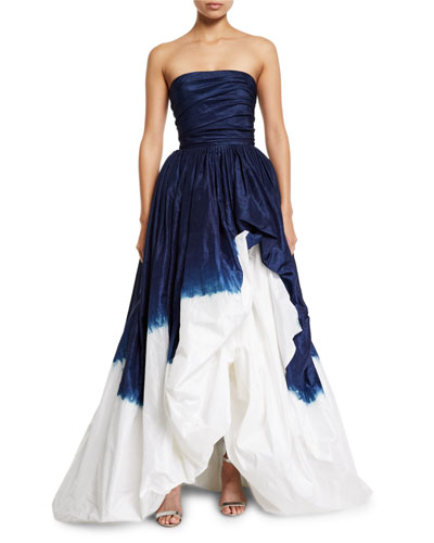 Strapless Dip-Dyed Ball Gown