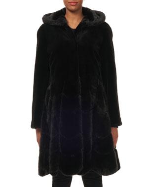 5f429ff78ea26 Gorski Hooded Reversible Sheared-Mink Taffeta Mid-Length Coat