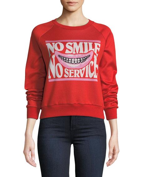 Stella McCartney No Smile No Service Crewneck Sweatshirt