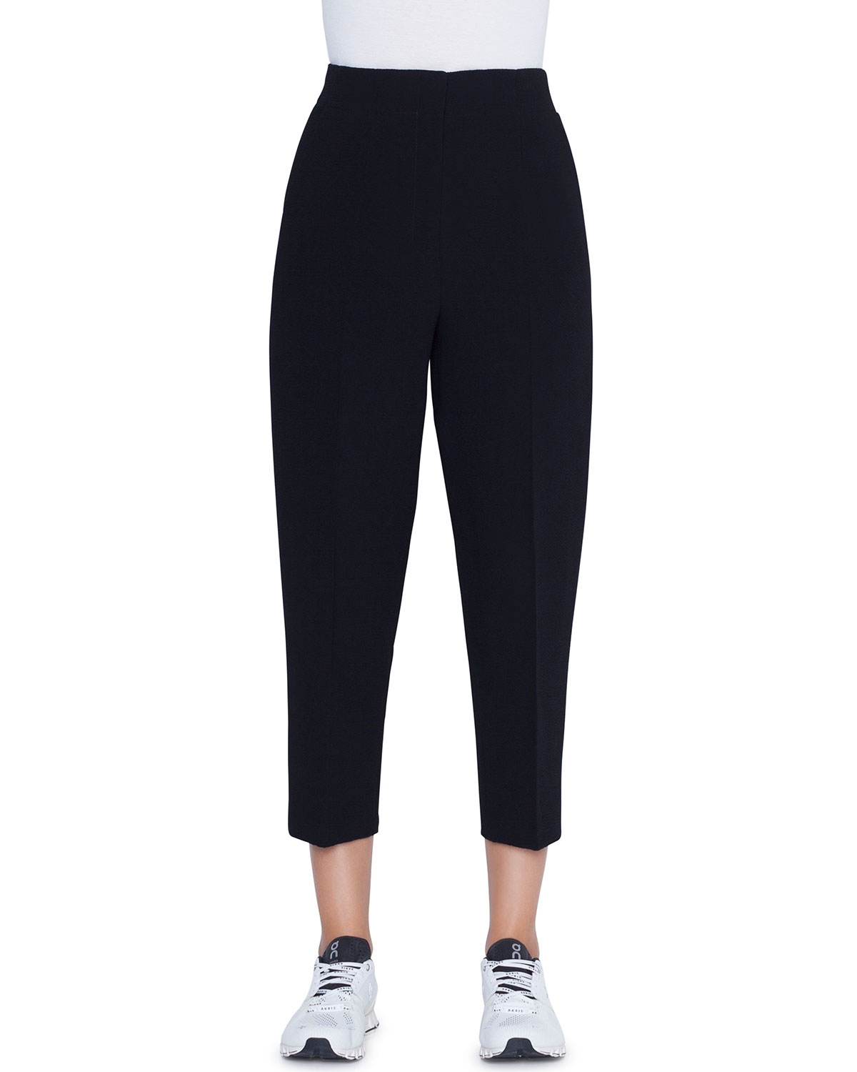 05daeb5e5693 Akris High-Rise Wool-Seersucker Ankle Pants
