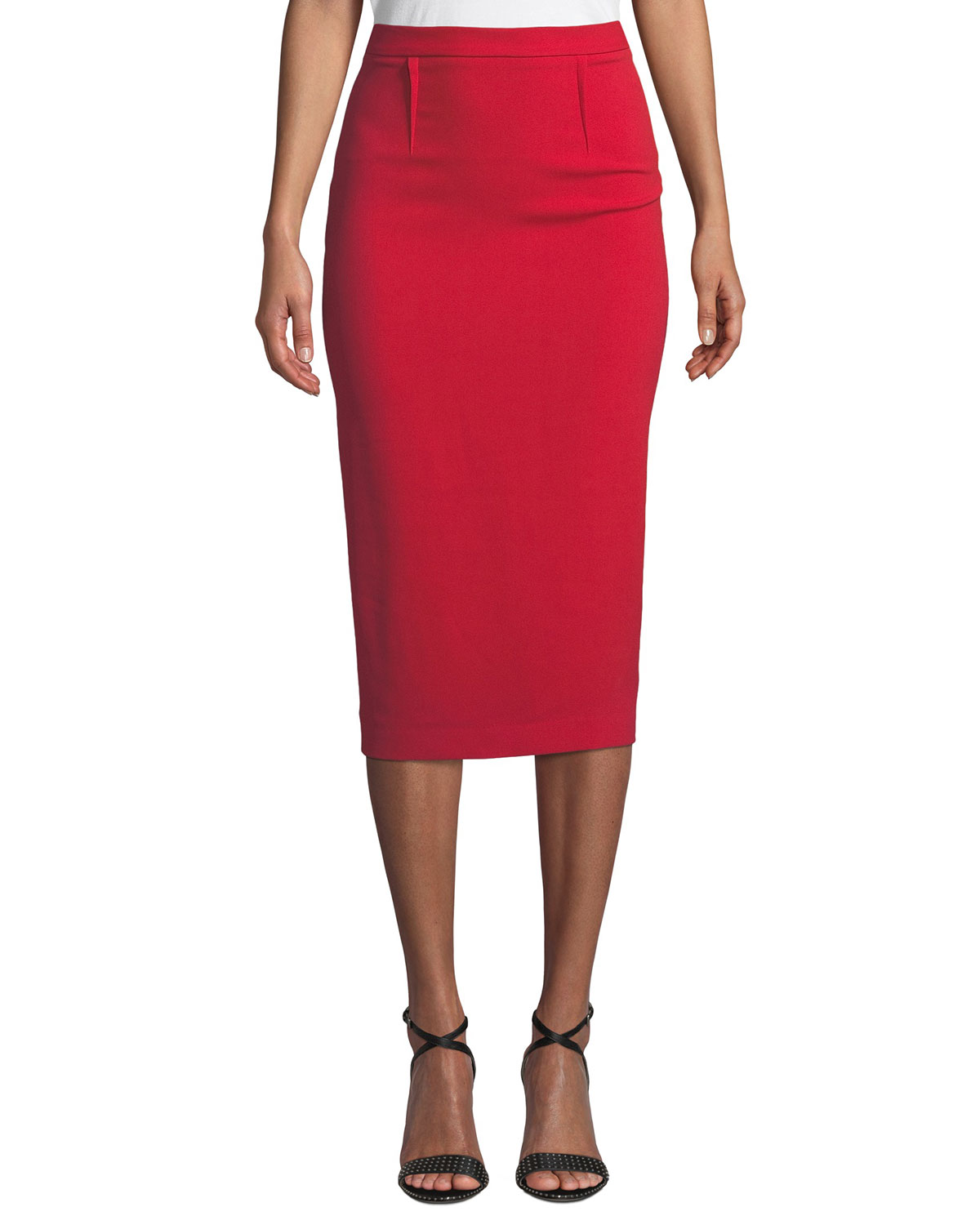 858add439a Roland Mouret Arreton Back-Zip Pencil Midi Skirt | Neiman Marcus