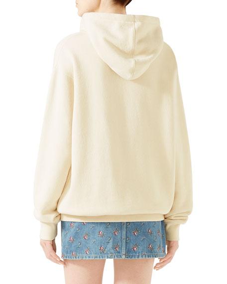 Gucci Sequin Logo Hooded Sweatshirt