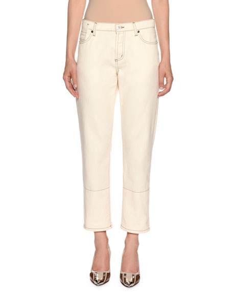 Marni Straight-Leg Cropped Jeans