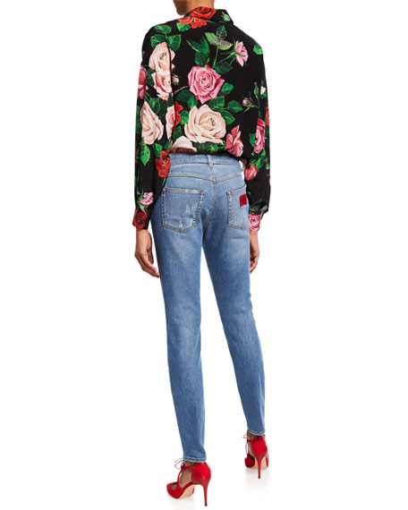 Dolce & Gabbana Kate Distressed Straight-Leg Jeans