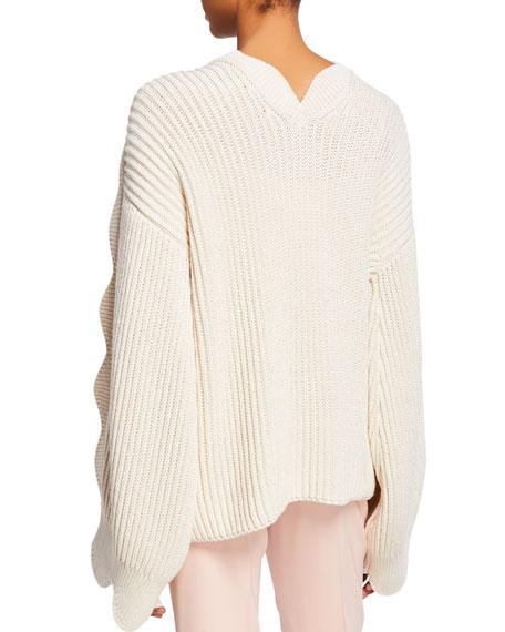Stella McCartney Chunky Scalloped-Sleeve Sweater