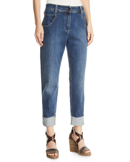 Brunello Cucinelli Mid-Rise Relaxed Straight-Leg Jeans