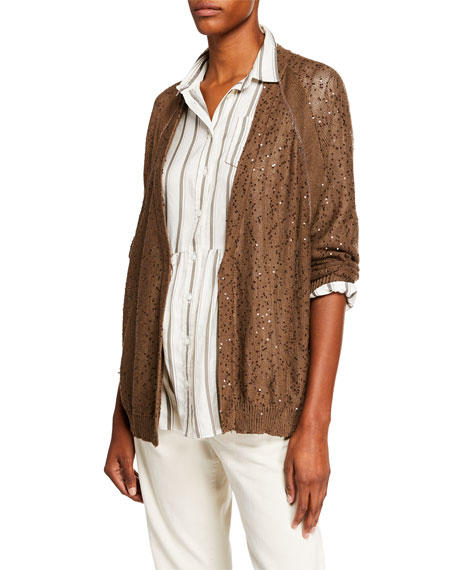 Brunello Cucinelli Linen Silk Sequined Relaxed