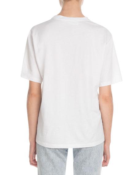 Victoria Victoria Beckham Sunglasses-Print Crewneck Short-Sleeve Cotton T-Shirt
