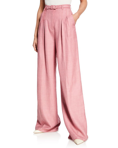 Vargas Wide-Leg Suiting Pants  Blush