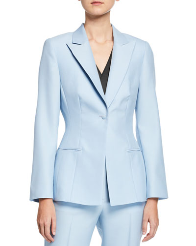 Theron Classic Wool-Silk Blazer