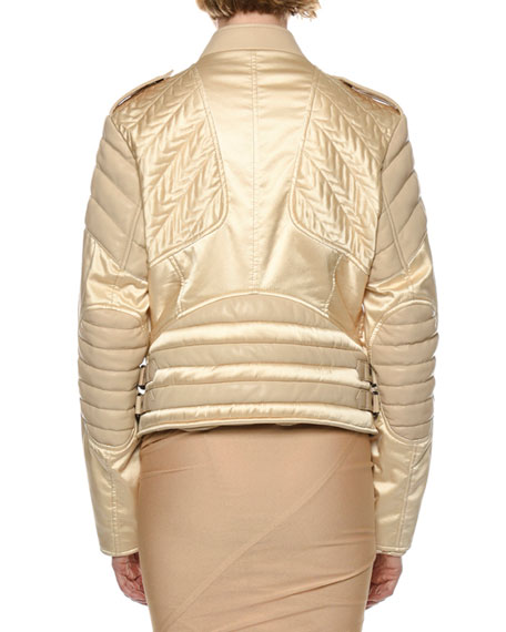 TOM FORD Satin & Leather Biker Jacket