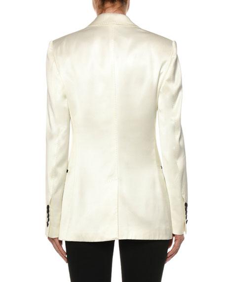 TOM FORD Contrast Lapel Tux Jacket, White/Black