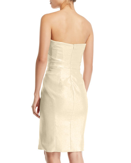 Zac Posen Party Jacquard Knee Length Dress