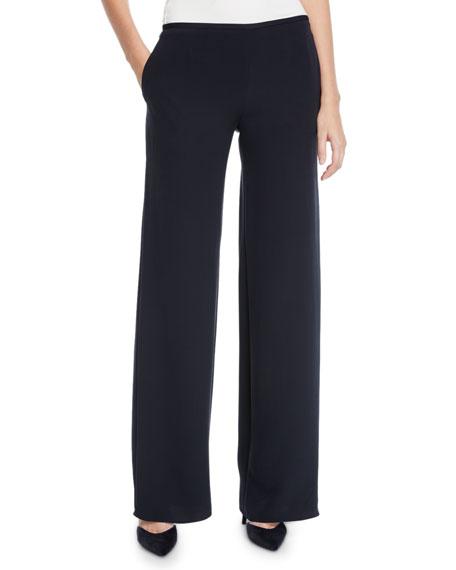 Emporio Armani Mid-Rise Silk Trousers