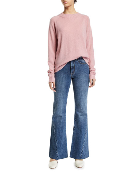Co Bias-Seam Flared Jeans