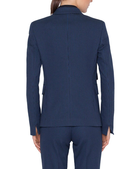 Akris punto Dot-Jacquard Stretch Cotton Blazer