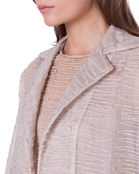 Akris Badia Scribble-Embroidered Coat