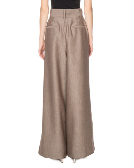 Marc Jacobs High-Waist Menswear Wide-Leg Trousers