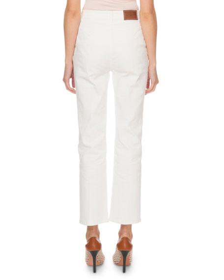 Altuzarra Denim Cropped Floral Jeans
