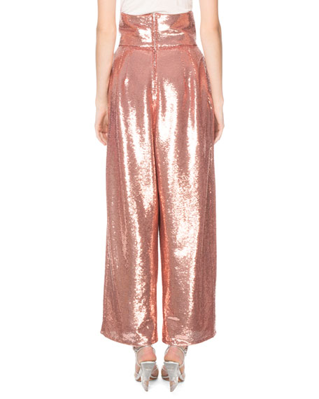 Marc Jacobs Shiny Sequin Dressy Trousers