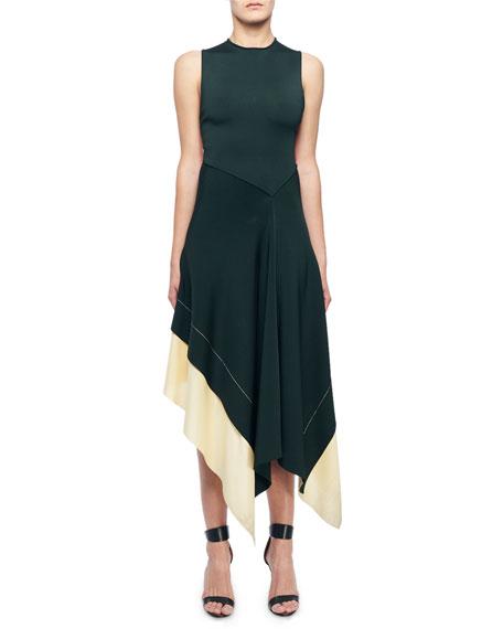 Victoria Beckham Sleeveless Round-Neck Crisscross-Back Dress
