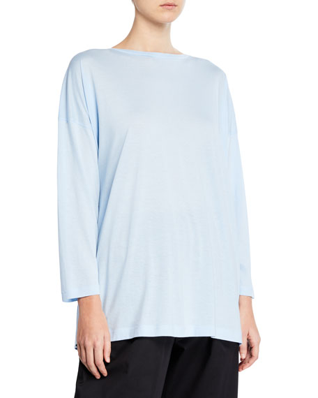 Eskandar Ultra-Light Cotton Long-Sleeve T-Shirt