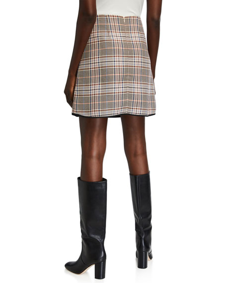 Image 2 of 3: Glen Plaid Straight Skirt