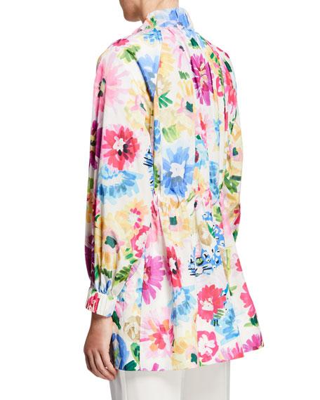 Escada Floral Print Anorak Jacket