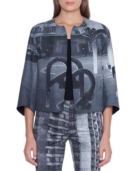 Akris Van Magnets Printed Jacket