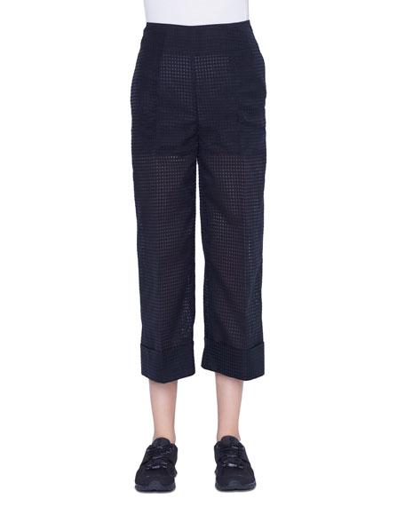 Akris Fella Cropped Wide-Leg Pants