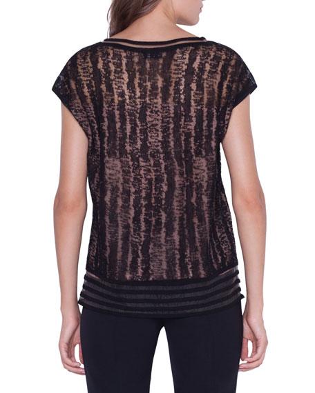 Akris Linen-Silk Pullover Sweater